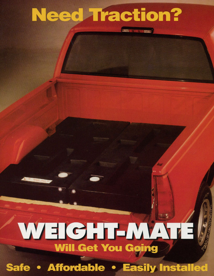 Weight-Mate, Granger Plastics, Pick Up Truck Tanks, Pick Up Bed Tanks, Inclement Weather Ballast, Truck Weight Ballast